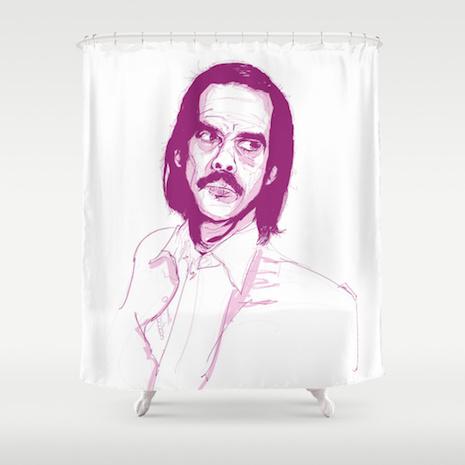 Nick Cave (Grinderman era) shower curtain