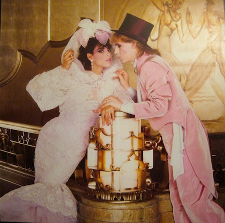 Nick Rhodes and Julie Anne Friedman at their wedding, August 18th 1984