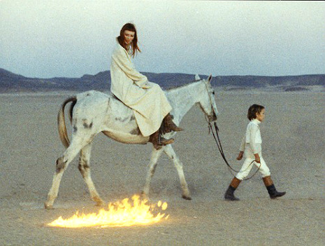 'The Inner Scar': Nico in a desert on a horse with no name