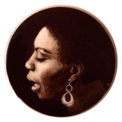 Nina Simone drum art by Nicold Di Nardo