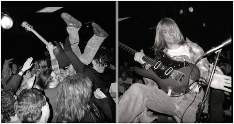 Kurt Cobain playing a gig at Man Ray in Cambridge, Massachusetts, April 18th, 1990