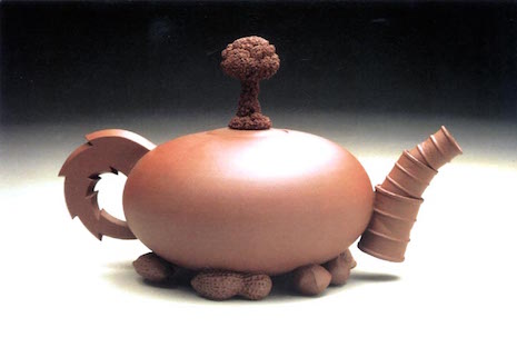 Nuclear Nuts teapot 1987 by Richard Notkin