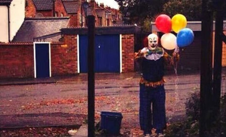 Pennywise lives!: Stephen King's evil Clown seen haunting Northampton's streets
