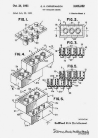 LEGO: The original patent for a 'Toy Building Brick', 1961
