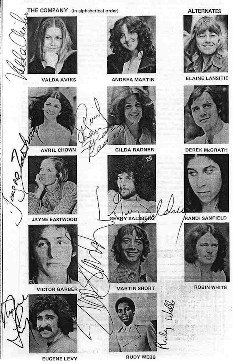 Godspell original cast program