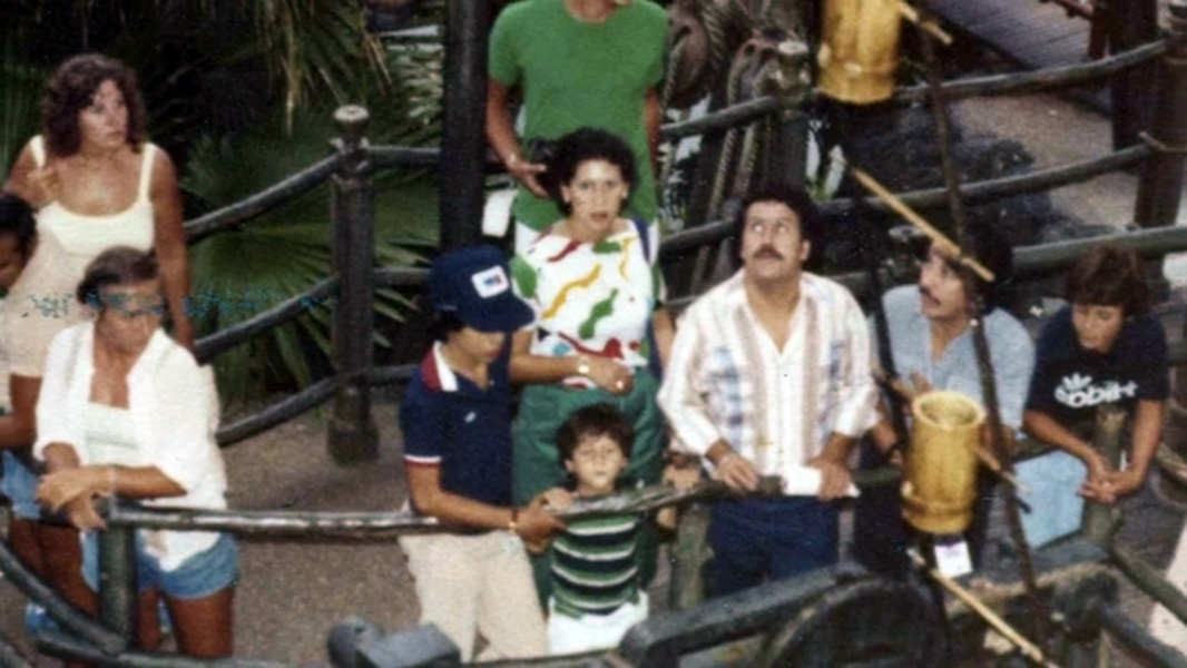 The Escobars walking through the Swiss Family Treehouse in Adventureland
