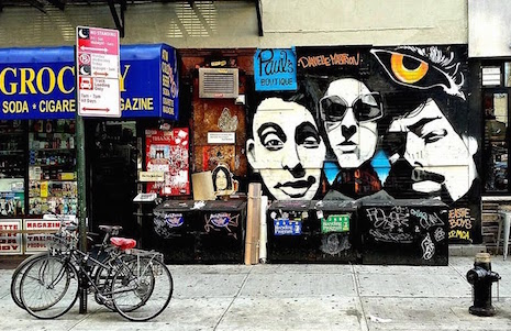 Paul's Boutique mural on the lower east side of Manhattan