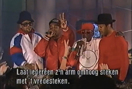 Public Enemy and Run DMC on Dutch television, 1988