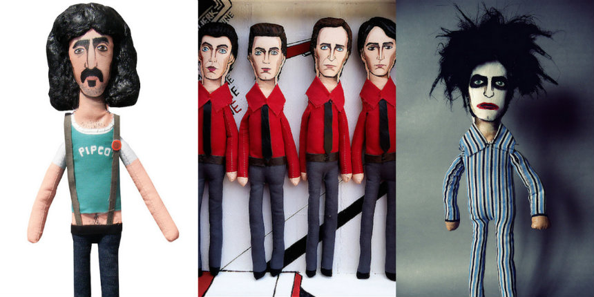 High-end plush dolls of Frank Zappa, Robert Smith, Kraftwerk, Jim Jarmusch & more, that you NEED!