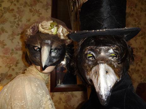 Plague Doctor masks by Krista Argale