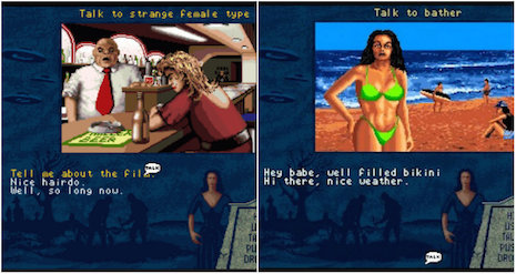 Screen shots from the Plan 9 From Outer Space video game by Konami, 1992