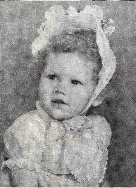A cute baby picture of The Cramps' Poison Ivy