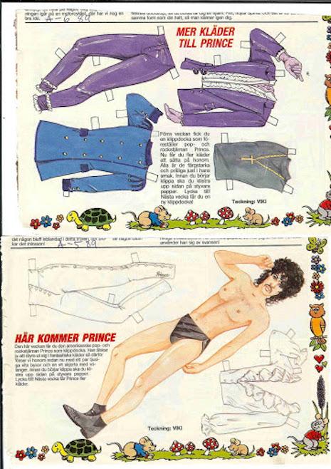 Prince Swedish paper doll \(1989\)
