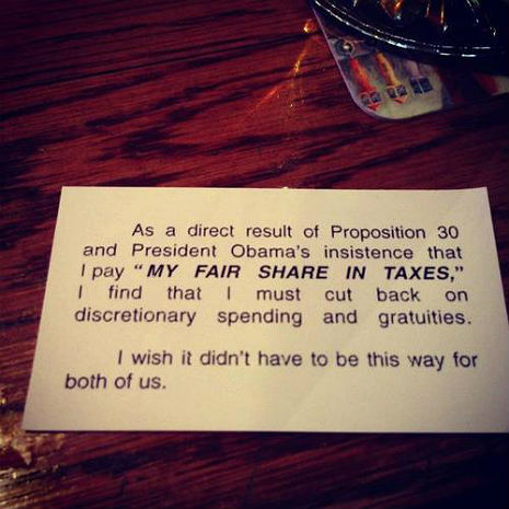 A Republican's idea of a 'tip'?