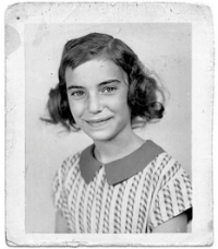 A photograph of Patti Smith aged 11