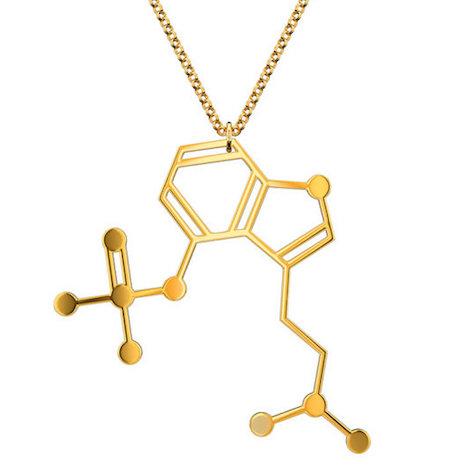 Psilocybin (magic mushroom) molecular necklace