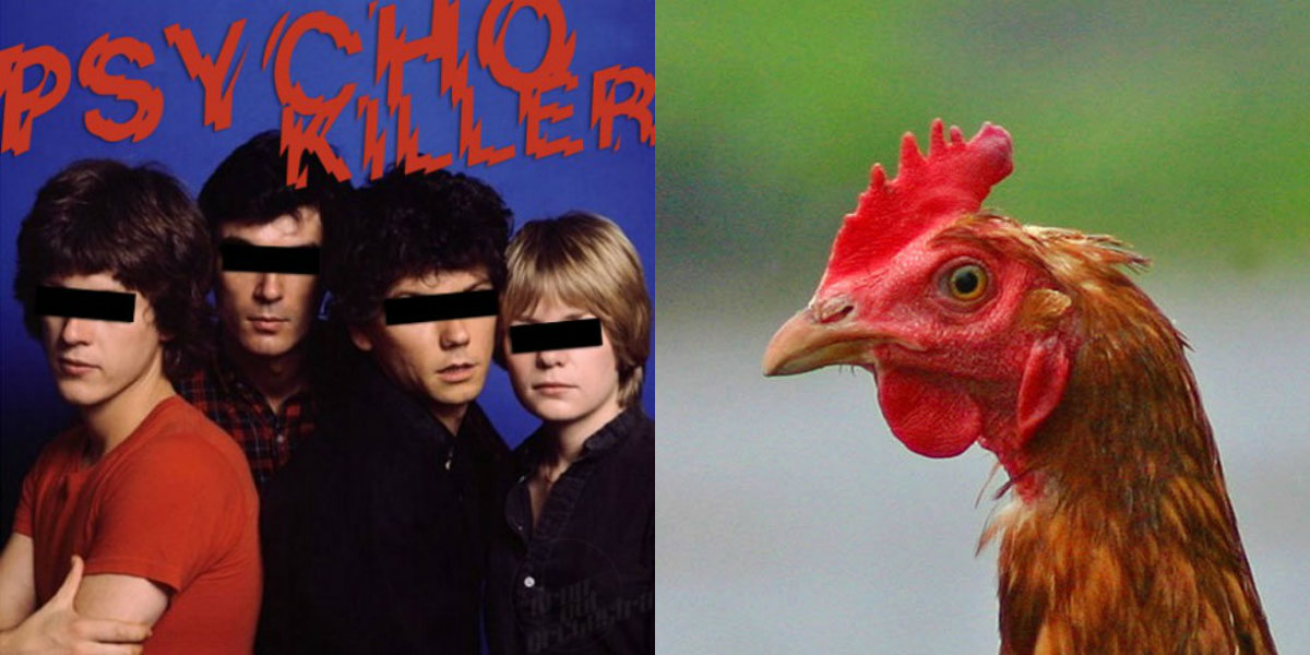 'Psycho Chicken': Plucked-up Talking Heads parody, 1979