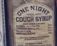 Cannabis and Morphia Cough Syrup from 100 years ago