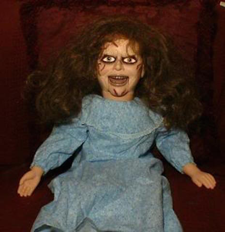 Regan MacNeil \(from the 1973 film The Exorcist\) ventriloquist dummy