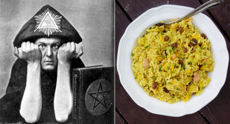 Aleister Crowley's curried rice recipe