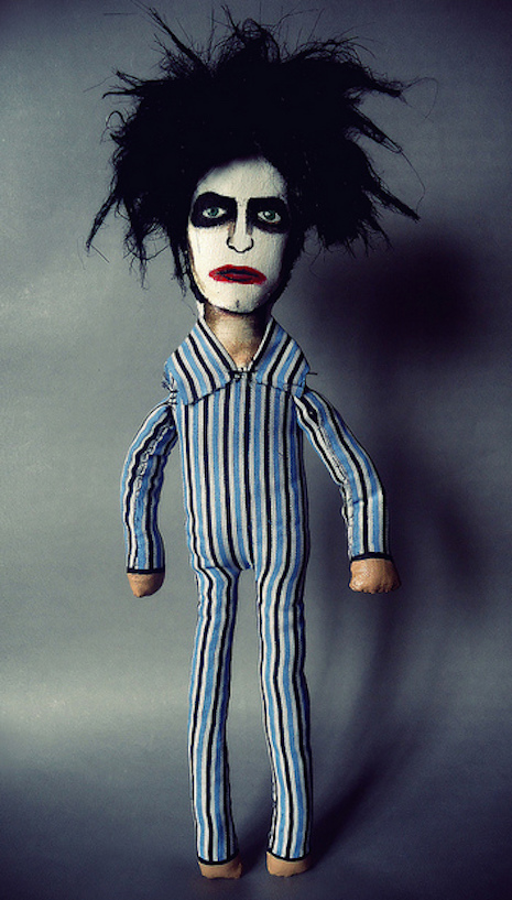 Robert Smith of The Cure in his Lullabye pajamas