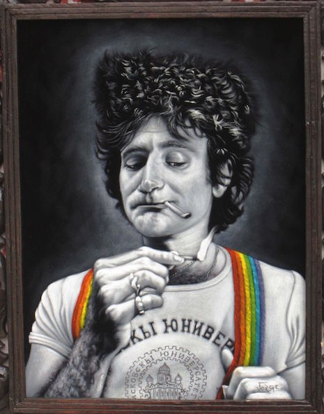 Robin Williams velvet painting