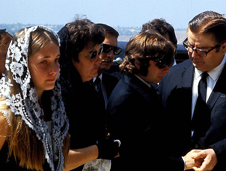 Sad footage of Sharon Tate's funeral, 1969