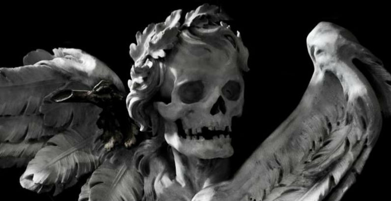 Get your luxurious goth on with the skeleton sculptures of Rome