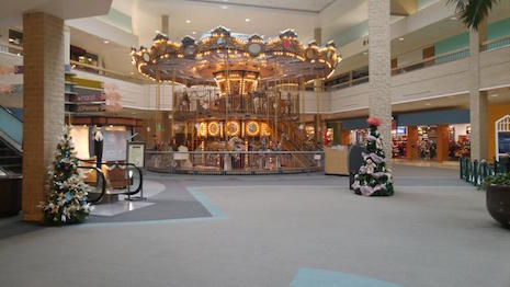 The deserted Century III mall carousel