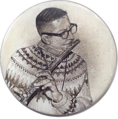 Sahib Shihab drum skin art by Nicold Di Nardo
