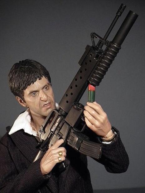 Tony Montana War version with Colt CR-15