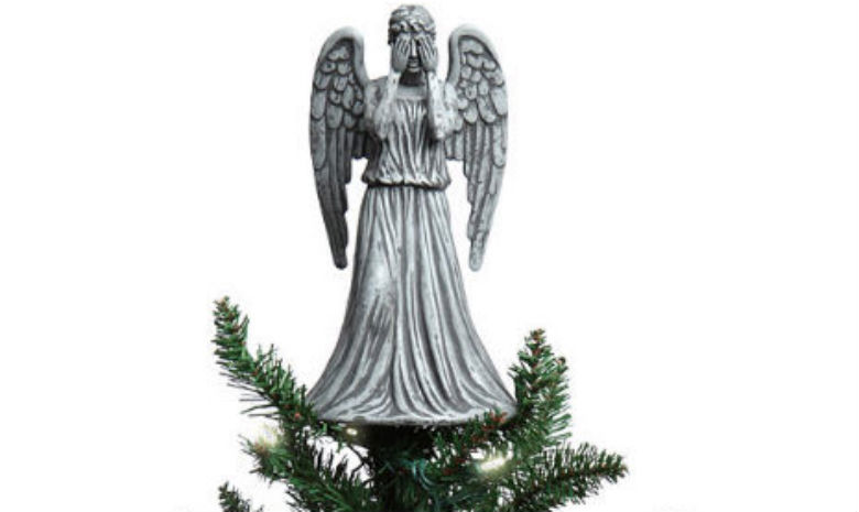 Doctor Who's Weeping Angel Christmas tree topper