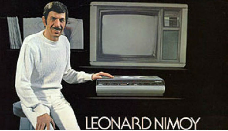 Leonard Nimoy and a space rock talk cutting-edge home theater, 1981
