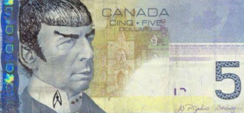 Bank of Canada urges 'Star Trek' fans to stop 'Spocking' their fivers
