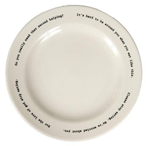 Intervention-ware plate