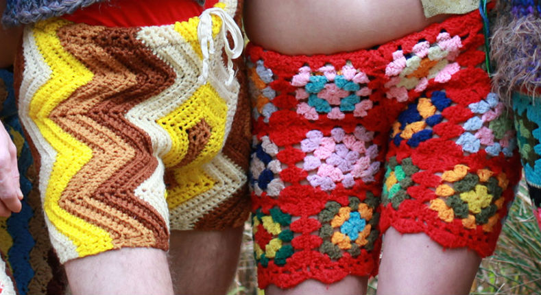 Hot fashion alert: Tiny crochet shorts for men