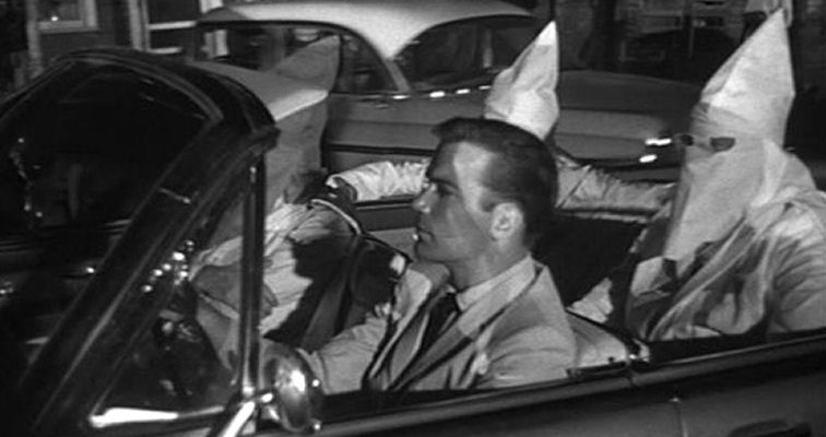 William Shatner leads a racist reign of terror in Roger Corman's 'The Intruder,' 1962
