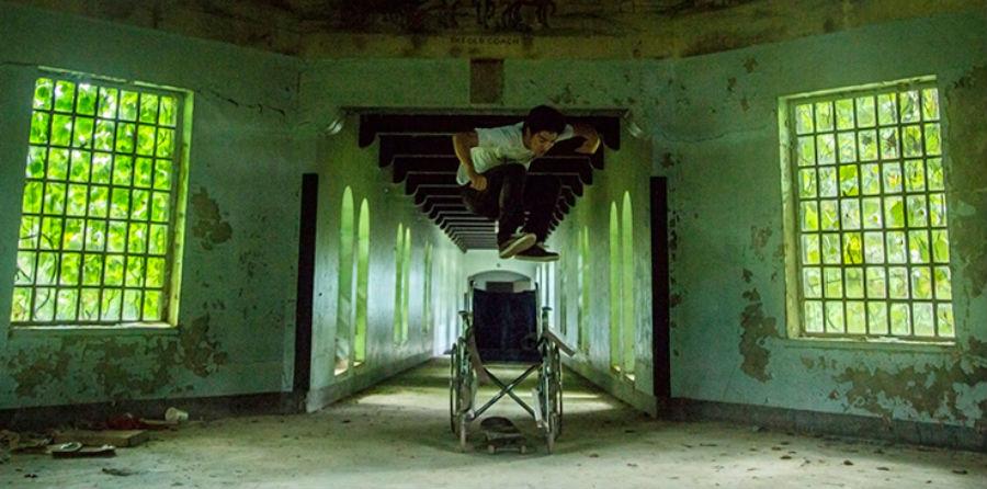 Skateboarding in an abandoned psychiatric ward