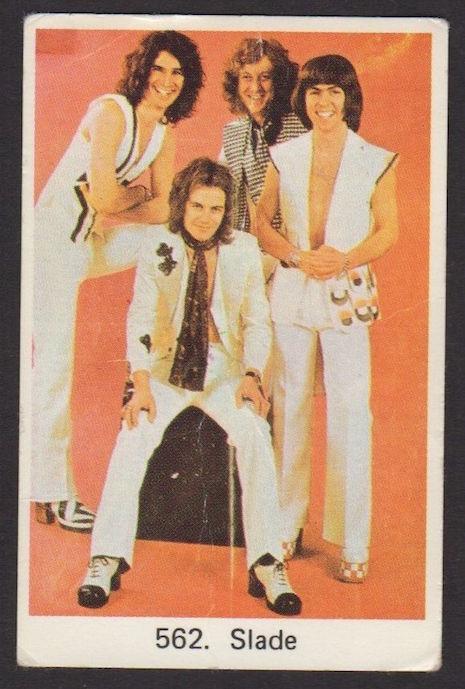 Slade Swedish vintage gum trading card, 1970s