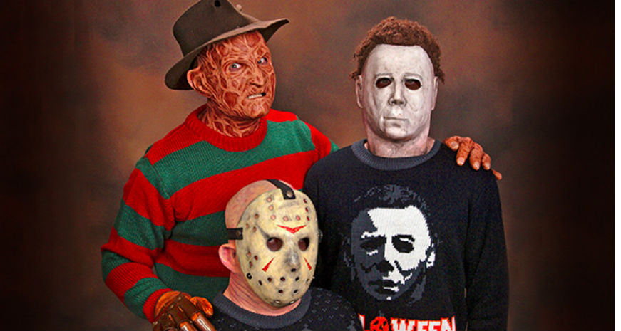 Slasher sweaters: The perfect gift for the psychopath in your life