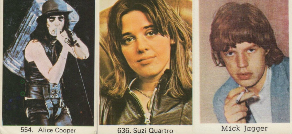 Vintage bubblegum trading cards from Sweden featuring your favorite punk, rock and glam stars!
