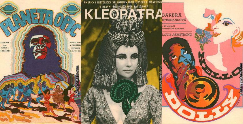 Trippy Czechoslovakian movie posters of classic American films