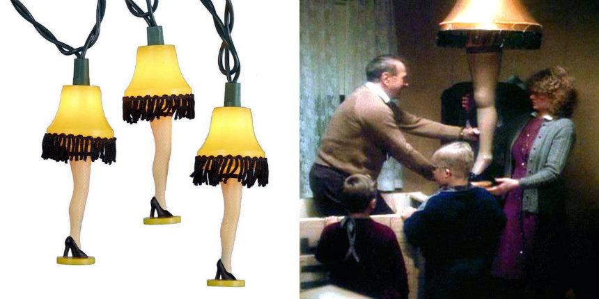 'A Christmas Story' leg lamp string of lights