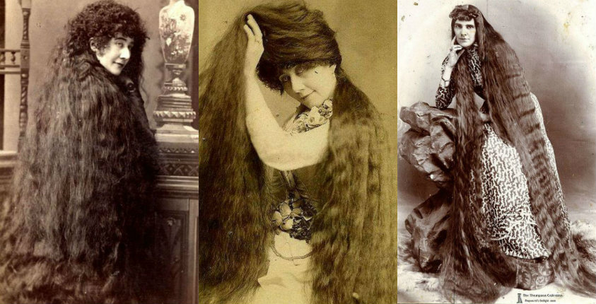 Photos of Victorian women and their long-ass hair