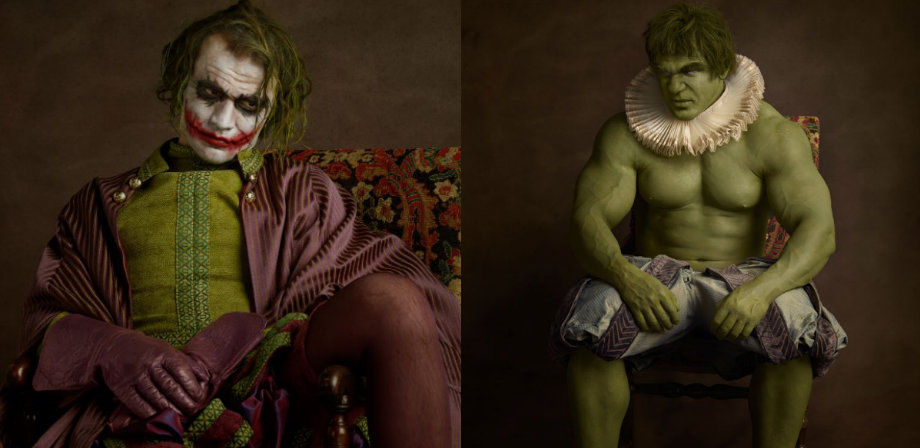 Superheroes and supervillains reimagined as 16th century aristocrats