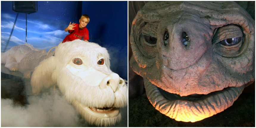 There's a place in Germany where you can ride Falkor and see the props from 'The Neverending Story'