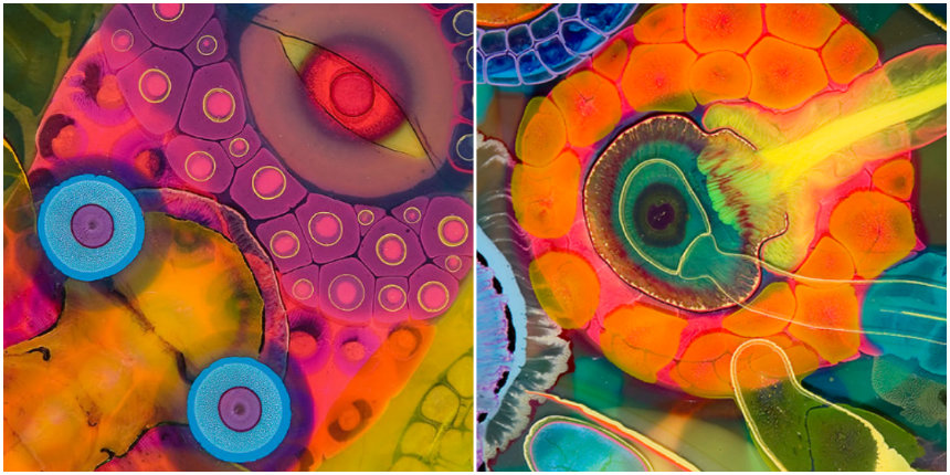 Hypnotic video of a how a psychedelic masterpiece is made