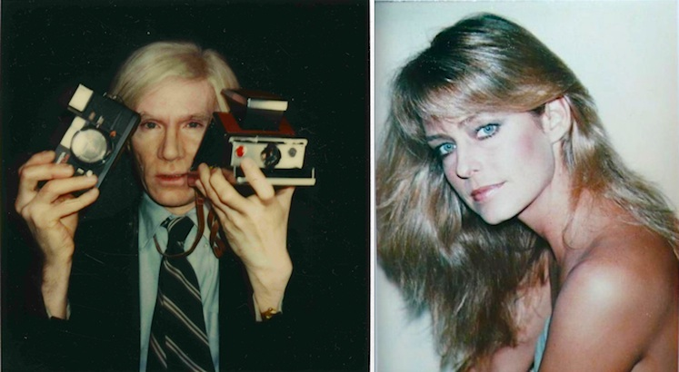 Andy Warhol shoots and paints Farrah Fawcett