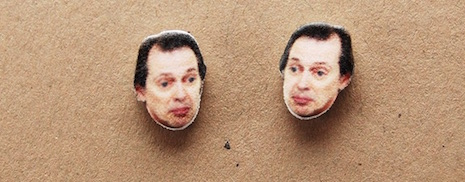 Steve Buscemi stud earrings