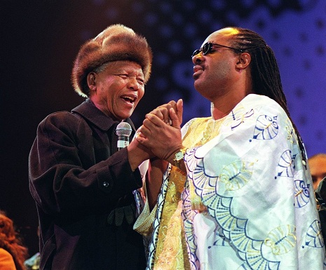 Stevie Wonder and Nelson Mandela